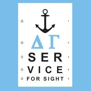 Awesome sorority philanthropy t-shirt designs from SororityBliss.com! Service for Sight, Delta Gamma!
