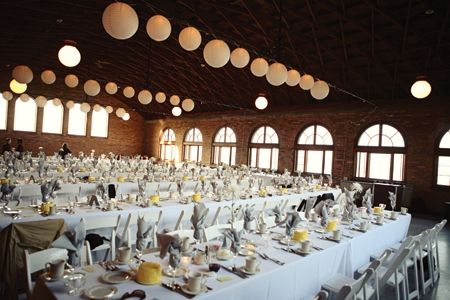 Paper lanterns on ceiling at south shore pavilion wedding - Google Search