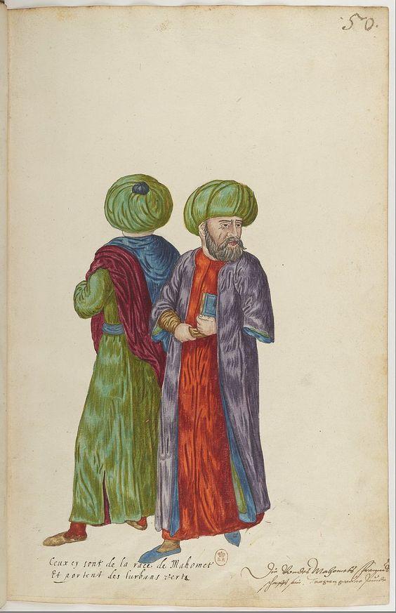 50 - Ceux[-ci] sont de la race de Mahomet et portent des turbans verts