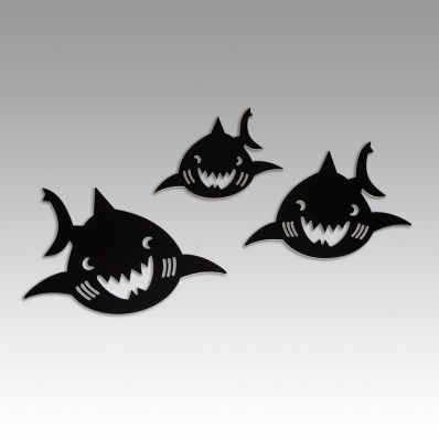 Shark Family - Wall Decal