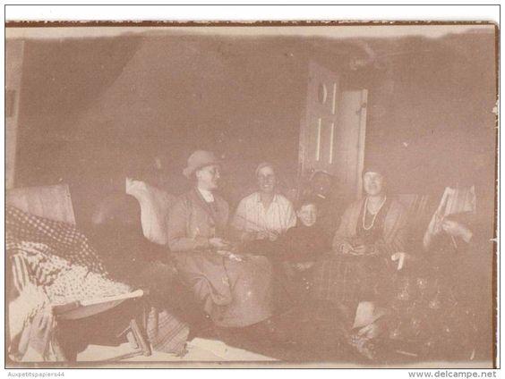 Ancienne Photo Originale - Groupe de Femme s´adonnant à la pratique du tricot - Tricotage - Taken on the Bendigo