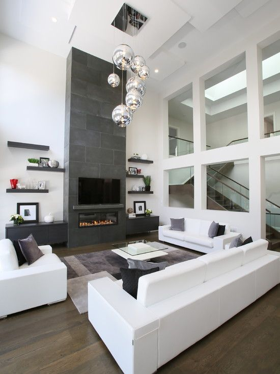 50 Modern Living Room Design Ideas | Living room white, White ...