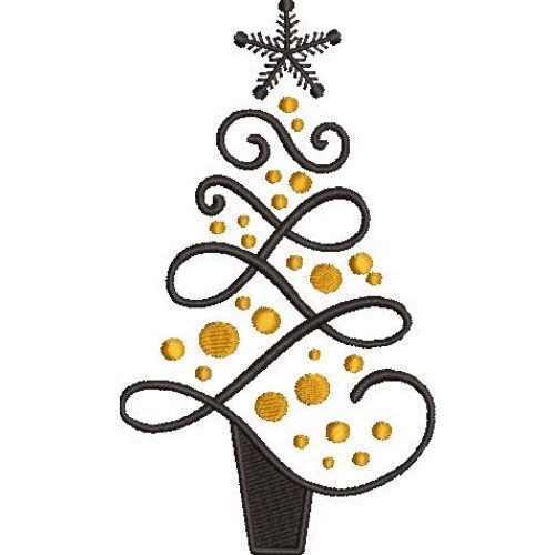 Christmas Tree Embroidery Design Etsy Christmas Tree Embroidery Design Christmas Embroidery Patterns Embroidery Designs