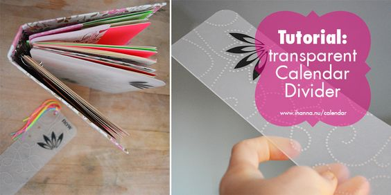 Create Your Own Transparent Calendar Dividers Tutorial