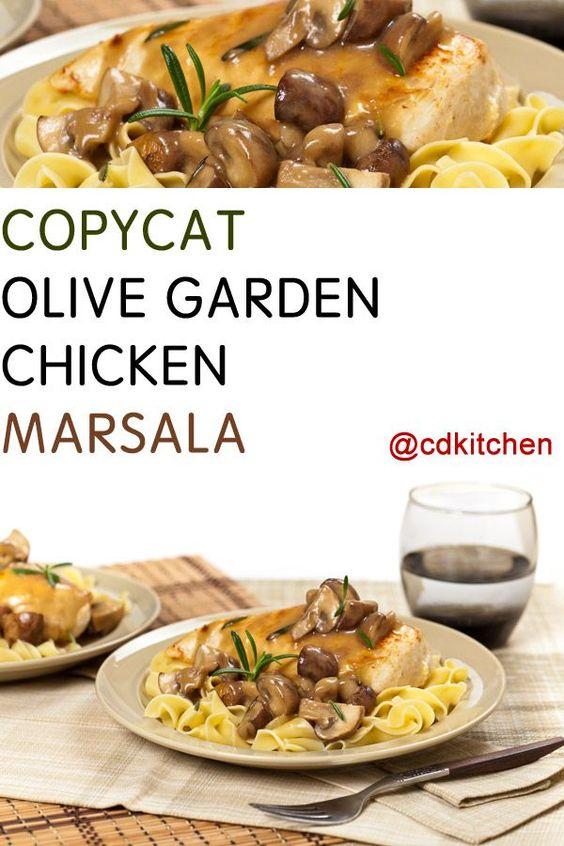Made with skinless, boneless chicken breast halves, flour, salt, black pepper, oregano, oil, butter or margarine, mushrooms, Marsala wine | CDKitchen.com