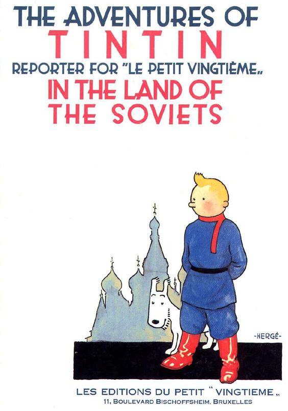 01 TinTin - Land of the Soviets Original Print