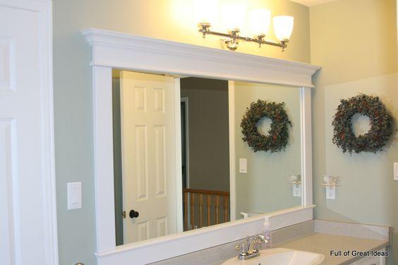 Do it yourself molding on a bathroom mirror.