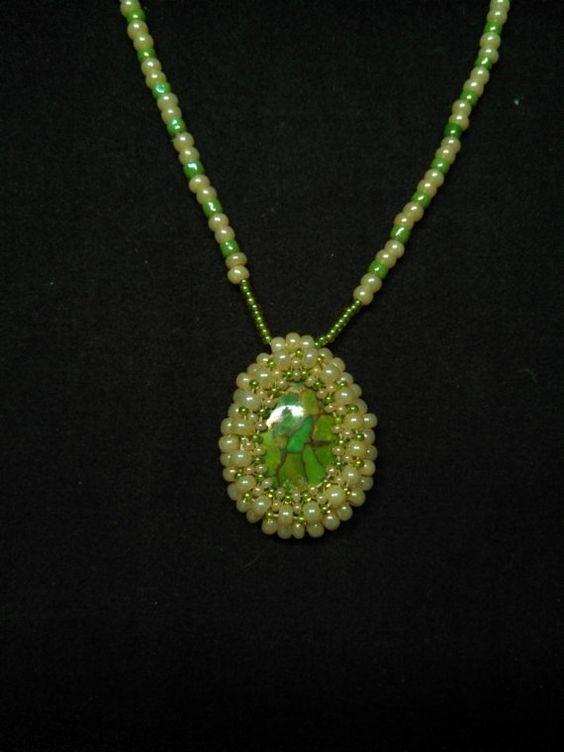 Green Turquoise Necklace by spirithorsegems on Etsy, $35.00