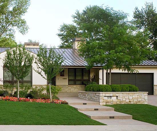 Curb appeal on a dime small ornamental trees pagoda for Ranch house curb appeal