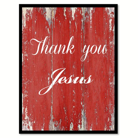 Thank You Jesus Quote Saying Gift Ideas Home Décor Wall Art