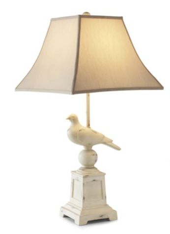 Bird Table Lamp: Steal of the Day: Linden Street Rustic Bird Table Lamp | Bird tables, Home  and Tables,Lighting