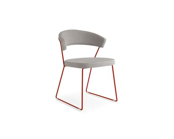 New York Side Chair c/w Sled Legs - Contract Furniture Store  - 1