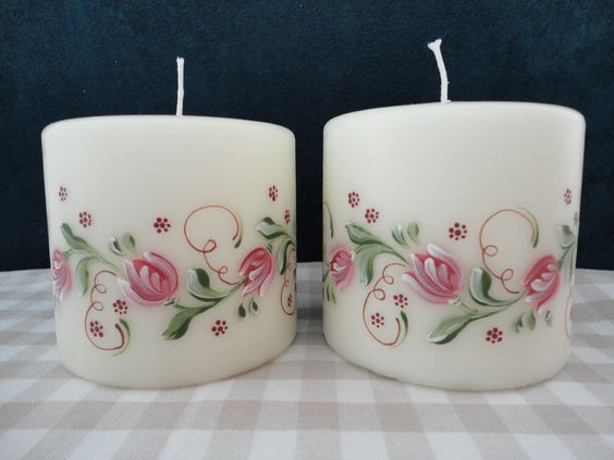 Handpainted candles decorative painting pinterest for Candle painting medium