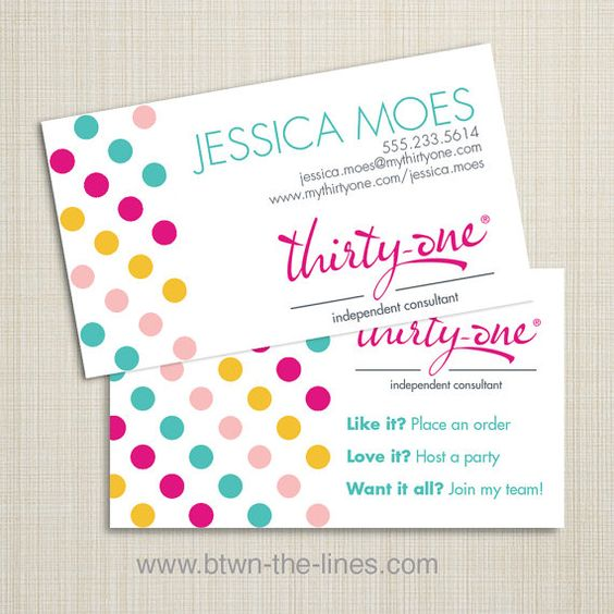 Thirty one business Thirty one and Business cards on
