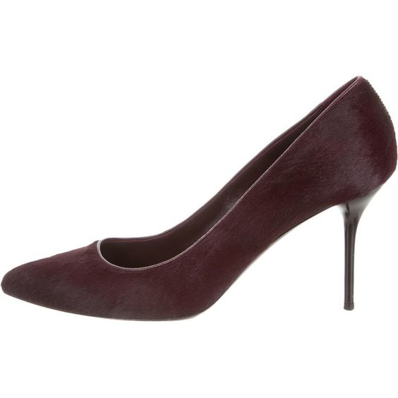 Pre-owned Gucci Pumps (¥22,825) ❤ liked on Polyvore featuring shoes, pumps, burgundy, pointed toe shoes, calf hair shoes, pony hair shoes, gucci footwear and burgundy shoes