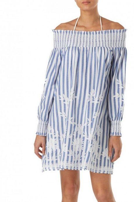 Kleid blau weiß  Kleid blau weiß, Blau weiß gestreiftes kleid