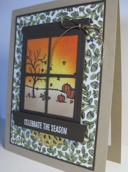 Fall Window View Card - 2