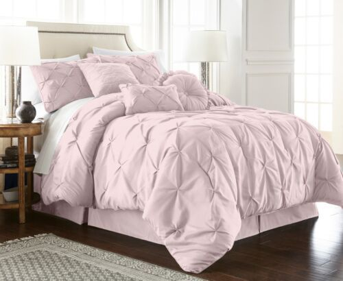 Chezmoi Collection Sydney Pinch Pleat Pintuck Bedding Comforter Set All Sizes Comforter Sets Pintuck Bedding Bed Comforters
