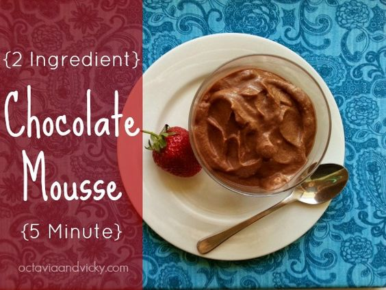 UPLOADING  1 / 5 – 2 ingredient…e mousse.jpg ATTACHMENT DETAILS  2 ingredient 5 minute chocolate mousse.
