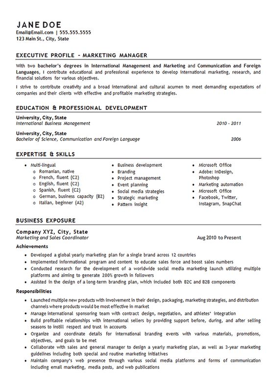 financial manager resume example resume examples and financial exercise science resume - Exercise Science Resume Objective