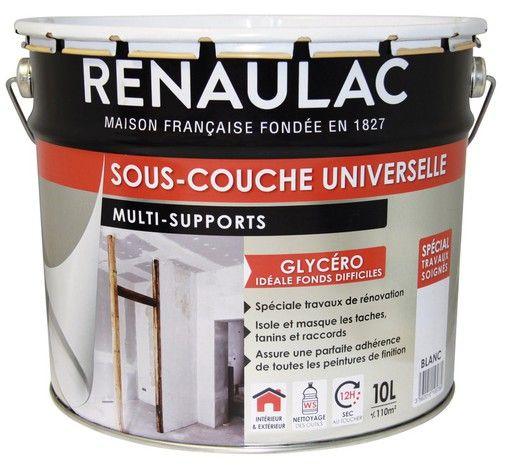 Sous Couche Universelle Opacifiante Pour Supports De Murs Plafonds Interieurs Et Exterieurs 10 L Renaulac Peinture A La Chaux Plafond Support