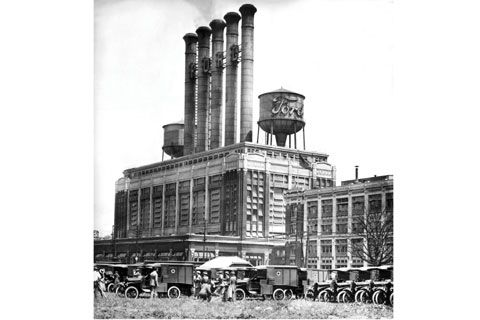 Antique ford plant where the genius created the motor for Motor city assembly line