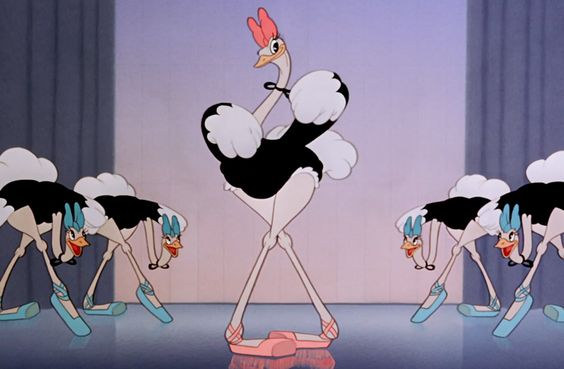 "For both the ostriches and the alligators in the ""Dance of the Hours"" sequence, and the demons in the ""Night on Bald Mountain"" sequence, Walt Disney hired the Ballet Russe de Monte Carlo as live-action reference models for the animators. Among the group were famed dancers Irina Baronova, Cyd Charisse, Tamara Toumanova, and Leonide Massine. The scene that features Hyacinth Hippo emerging from the fountain was actually a reference to a famous scene from George Balanchine's Goldwyn Follies…"