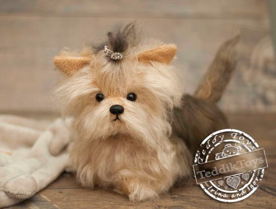 Puppy york Betty(is possible repeat to order), Yorkshire Terrier ,Teddy York ,Toy ,little York ,Terrier ,dog ,plush by teddiktoys on Etsy