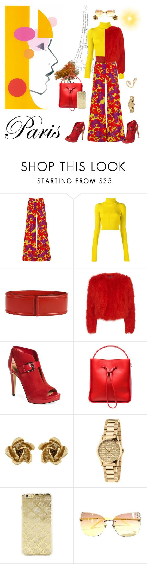 """""""Be as Colorful as the Season"""" by krusie ❤ liked on Polyvore featuring Rosie Assoulin, Jacquemus, Marni, Alexander McQueen, MICHAEL Michael Kors, 3.1 Phillip Lim, Oscar de la Renta, Gucci, Sonix and Fernando Jorge"""