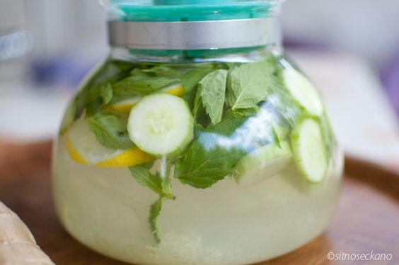 water to BOOST WEIGHT LOSS: 2L water, 1 medium cucumber, 1 lemon, 10-12 mint leaves. steep overnight in fridge and drink every day.- that sounds yummy i would totally drink all the time.