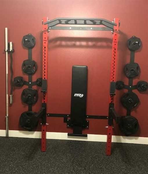 pro squat rack with multi grip bar