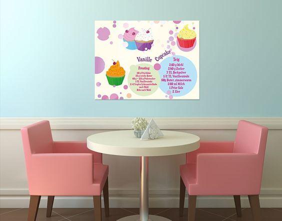 Viel Spaß beim Backen!  #Cupcake #Vanille #Glasbild #Wanddeko
