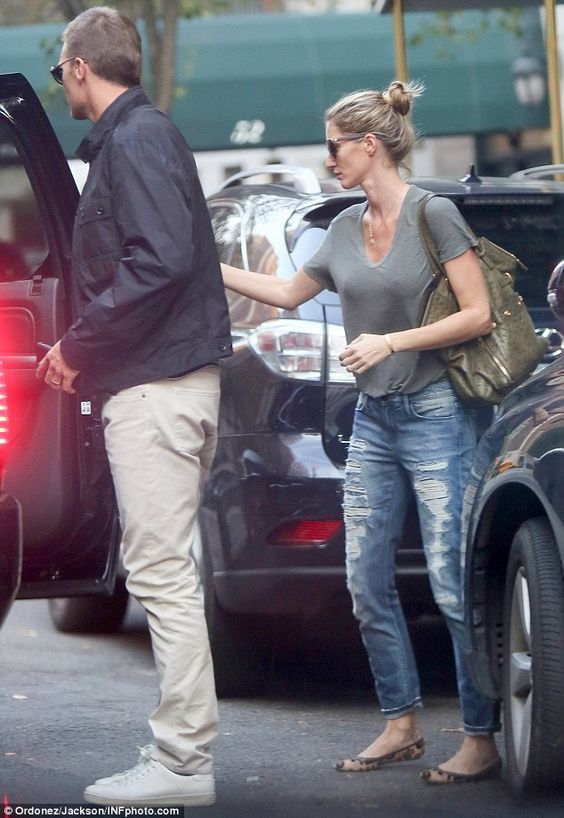 Gisele Bundchen and Tom Brady seen after Deflategate court hearing | Daily Mail Online