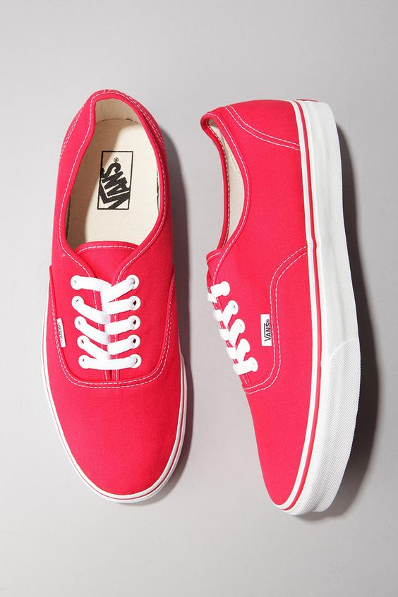 vans authentic full red guppy