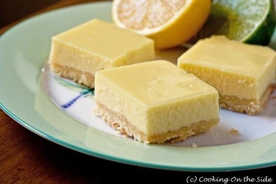 lemon lime bars (like key lime pie)