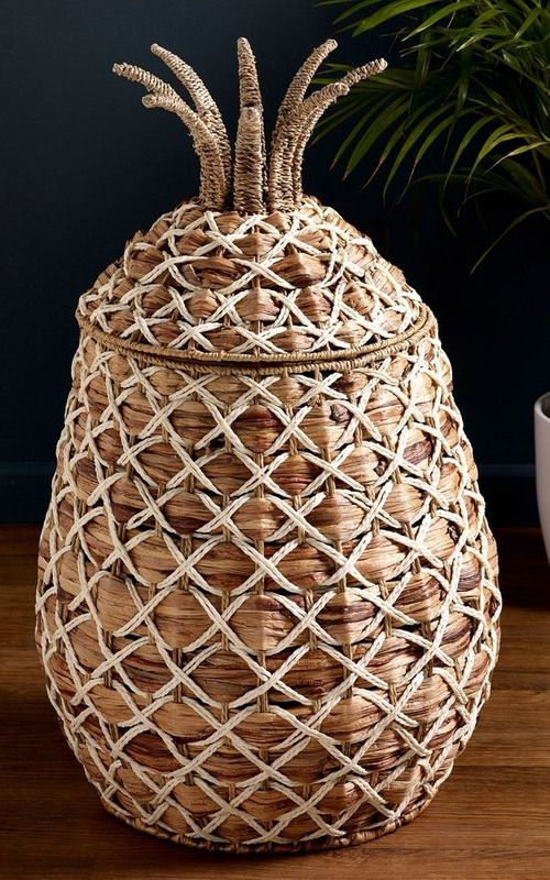 Next Pineapple Laundry Basket Natural In 2020 Woven Laundry