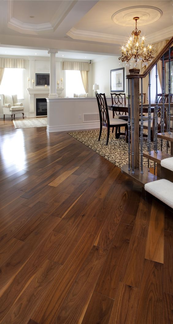 Black walnut classic natural manufactured by muskoka for Manufactured hardwood flooring