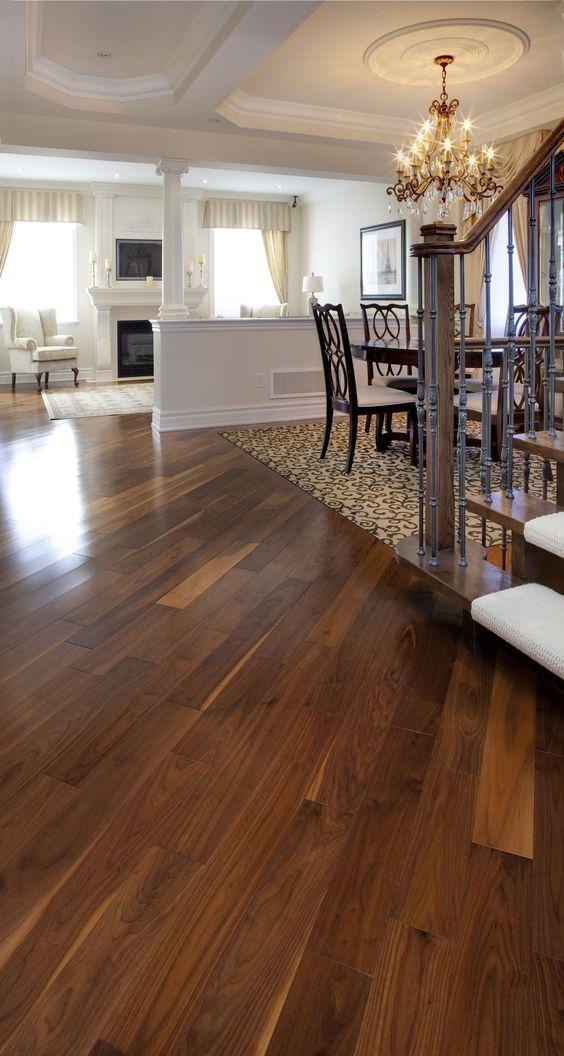 Black walnut classic natural manufactured by muskoka for Manufactured hardwood flooring