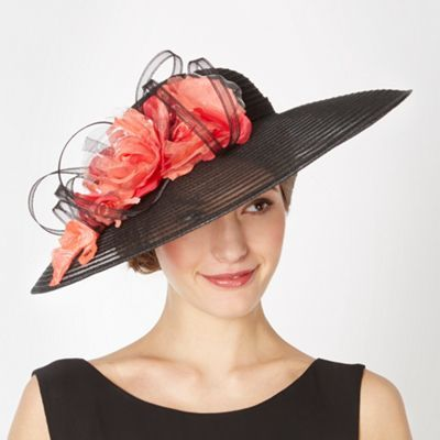 Top Hat by Stephen Jones black striped floral down brim hat was £110 now £88…