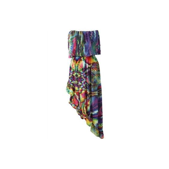 Parides Bohemia Gypsy Spanish Flare Dress (BS-215) featuring polyvore, women's fashion, clothing, dresses, gypsy dresses, flared dresses and flare dress