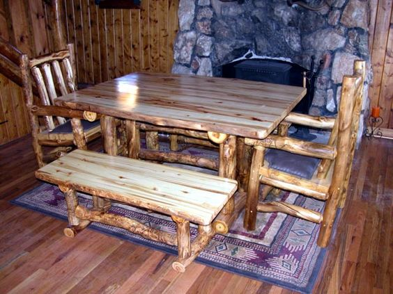 Cozy rustic home decorating handcrafted high quality for Aspen logs for decoration
