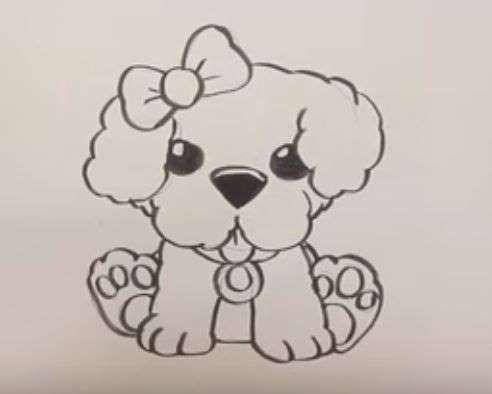 Aprende Como Dibujar Un Perro De Frente Paso A Paso 3 Como Dibujar Un Perro Como Dibujar Dibujos De Animales Tiernos