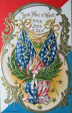 Clip art, Vintage american flags and Vintage holiday on ...