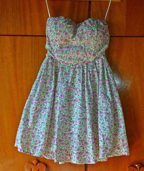 vestido florido - vestidos moça de pano