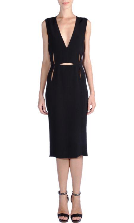 // Lanvin Slash Front Dress