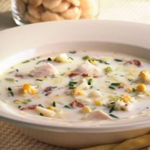 Tilapia Corn Chowder - Doubled the recipe with same amount of fish ...