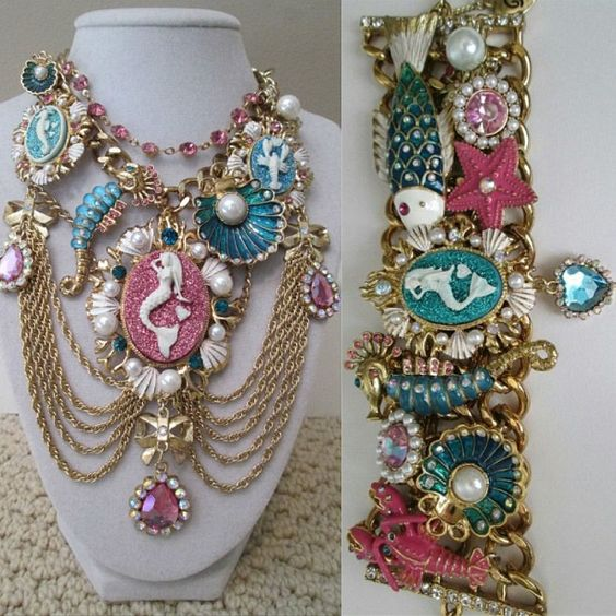 Mermaid Jewelry Bracelets And Glitter On Pinterest