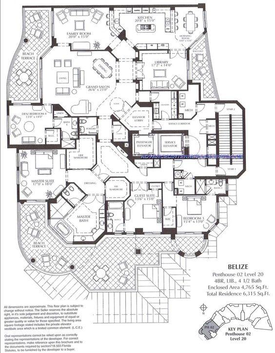 The Belize At Cape Marco Luxury Condominium Floor Plans