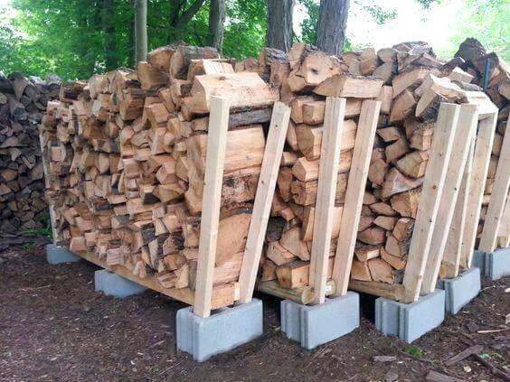 Beste Moglichkeit Brennholz Zu Speichern Firewood Kaminholzregal Paletten Friedland Aufbewahrung Holz Diy Ideen Eb Garten Holz Im Garten Hintergarten