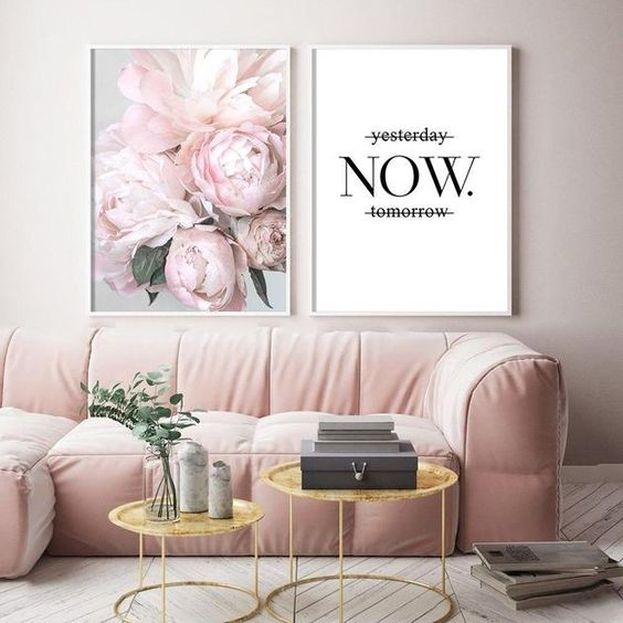 Inspirational Pink Peony Wall Art | House Of Andaloo Home Decor  – House of Andaloo